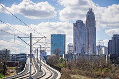 Charlotte north carolina city skyline and downtown stock photo
