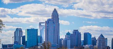 Charlotte north carolina city skyline and downtown stock photos