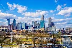 Charlotte north carolina city skyline and street scenes Stock Images