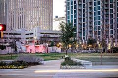 Charlotte north carolina city skyline and street scenes Royalty Free Stock Image