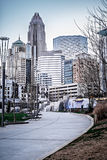 Charlotte north carolina city skyline and street scenes Stock Images