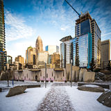 Charlotte north carolina city skyline and street scenes Royalty Free Stock Photos