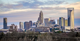 Charlotte north carolina city skyline and street scenes Stock Photo