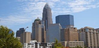 Charlotte North Carolina Skline Fotografia Stock Libera da Diritti