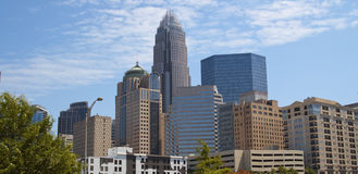 Charlotte North Carolina Skyline royalty free stock photography
