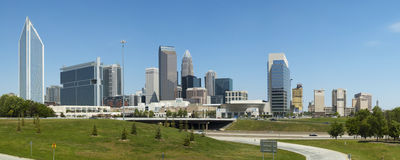 Charlotte North Carolina Skyline Royalty Free Stock Photos