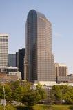 Charlotte North Carolina Skyline. Skyline of Uptown Charlotte North Carolina on a sunny day with blue skies Royalty Free Stock Photos