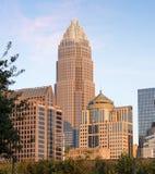 Charlotte North Carolina Skyline Imágenes de archivo libres de regalías