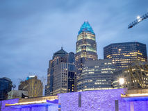 Charlotte north carolina skyline Stock Photography