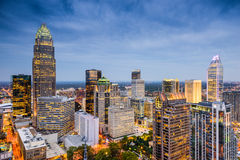 Charlotte North Carolina Skyline Royalty Free Stock Images