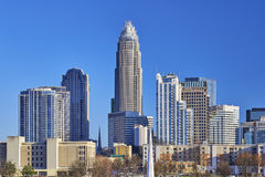 Charlotte, North Carolina Skyline stock photo