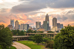 Charlotte, North Carolina Sunset 3 Stock Image
