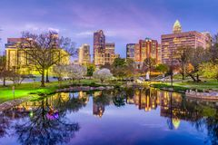 Charlotte, North Carolina Skyline Stock Images