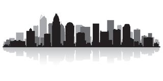Charlotte Pólnocna Karolina miasta linii horyzontu sylwetka ilustracja wektor