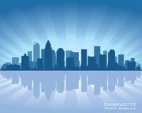 Charlotte Pólnocna Karolina miasta linii horyzontu sylwetka ilustracji