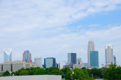Charlotte, Pólnocna Karolina, miasto budynek linia horyzontu obrazy royalty free