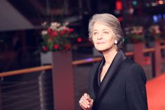 Charlotte Rampling attends the Homage Charlotte Rampling royalty free stock photos
