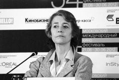 Charlotte Rampling at press-conference Stock Images