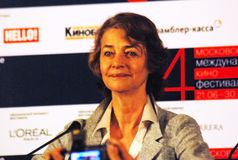 Charlotte Rampling at press-conference Royalty Free Stock Image