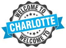 Charlotte round ribbon seal Stock Image