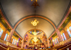 Charlotte, , September 7, 2014 - interior of  Holy Trinity Gre Stock Photos