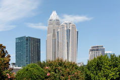 Charlotte Skyline Royalty Free Stock Photos