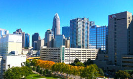Charlotte Skyline Fotos de Stock Royalty Free