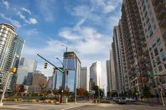 Charlotte Skyline da parte alta da cidade Fotos de Stock