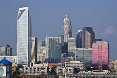 Charlotte Skyline in the Day Royalty Free Stock Image