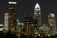 Charlotte, skyline do NC Imagem de Stock Royalty Free