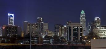 Charlotte Skyline nel dicembre 2015 immagine stock libera da diritti