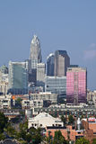 Charlotte Skyline no dia de South End Foto de Stock