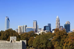 Charlotte Skyline Stock Images