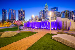 Charlotte Skyline and Park Stock Photography