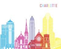 Charlotte skyline pop Stock Images