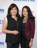 Charlotte St Martin et Anne del Castillo à 2019 étoiles dans l'allée image libre de droits