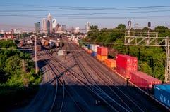 Charlotte-Stadtskyline lizenzfreie stockfotos