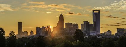 Charlotte Sunrise Imagens de Stock Royalty Free