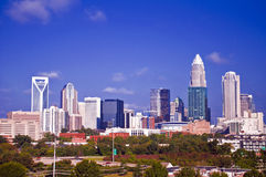 Charlotte uptown cityscape Royalty Free Stock Images