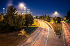 Charlotte uptown cityscape Royalty Free Stock Photos