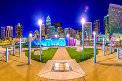 Charlotte Uptown park Zdjęcia Royalty Free