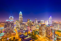 Charlotte Uptown Skyline Royalty Free Stock Photos