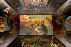 Charlottenburg ceiling. Charlottenburg castle ceiling, painted and scluptured Royalty Free Stock Image