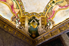 Charlottenburg ceiling. Charlottenburg castle ceiling, painted and scluptured Royalty Free Stock Photos