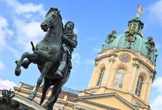 Charlottenburg, monument to Elector Friedrich III. Charlottenburg Palace, monument to the Elector Friedrich III, Berlin, Germany royalty free stock photo