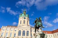 Charlottenburg pałac i statua Friedrich Wilhelm Ja, Berlin, Niemcy Zdjęcie Stock