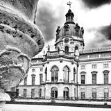 Charlottenburg palace. Artistic look in black and white. Royalty Free Stock Images