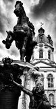Charlottenburg palace. Artistic look in black and white. Stock Images