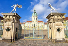 Charlottenburg Palace from entrance gate, Berlin Royalty Free Stock Photography