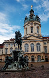 Charlottenburg Palace with Equestrian Monument Berlin Stock Image